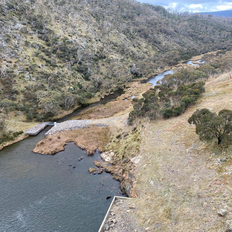Decorative image of Tantangara Dam, New South Wales